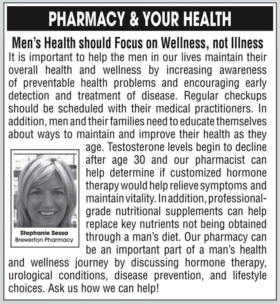 Men's Health should Focus on Wellness, not Illness
