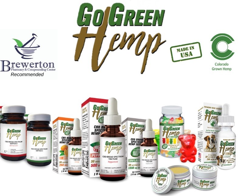 go green hemp cbd- recommended by Brewerton Pharmacy
