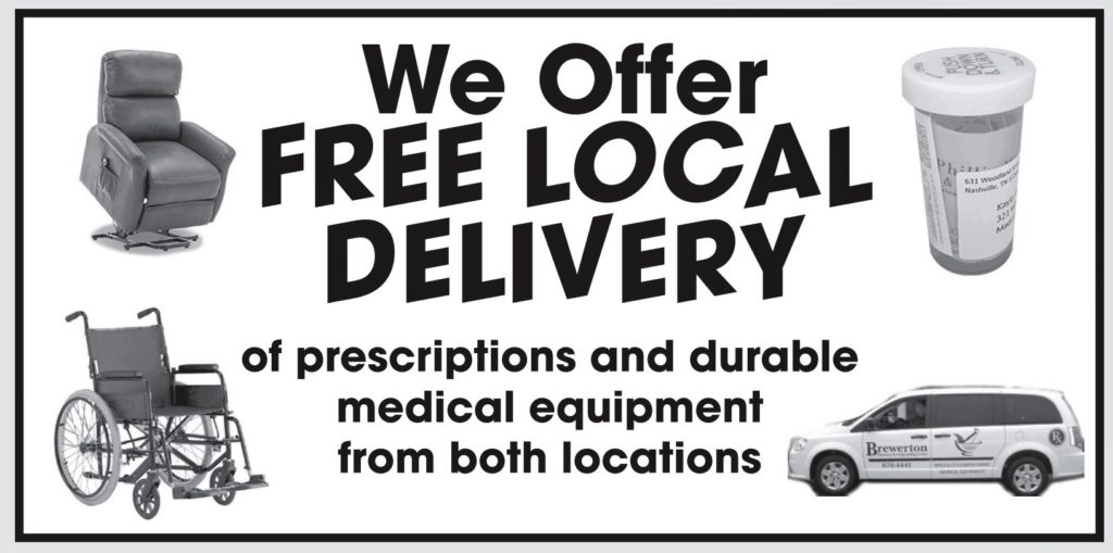 we offer free local delivery of prescriptions and durable medical equipment